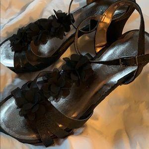 Kenneth Cole Reaction size 3 black dress sandals